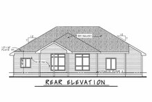 Ranch Exterior - Rear Elevation Plan #20-2267