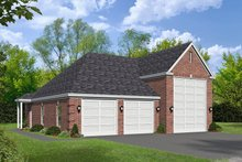 Southern Exterior - Front Elevation Plan #932-78
