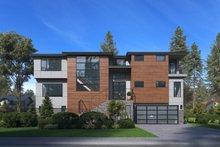 Architectural House Design - Modern Exterior - Front Elevation Plan #1066-84