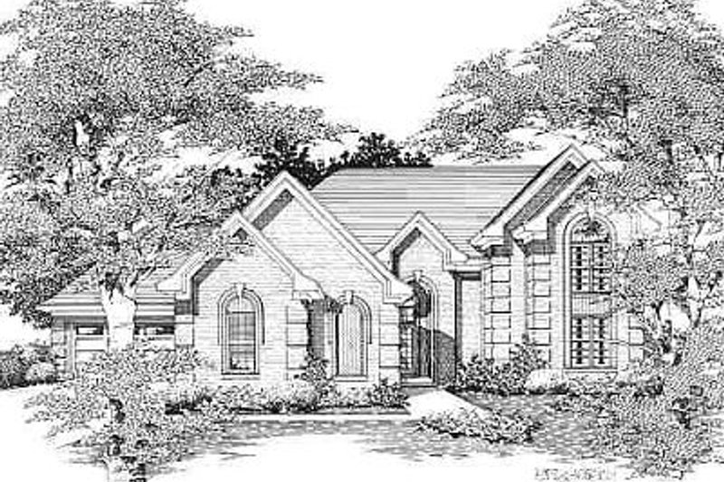 European Style House Plan - 5 Beds 3 Baths 3008 Sq/Ft Plan #329-278 Exterior - Front Elevation