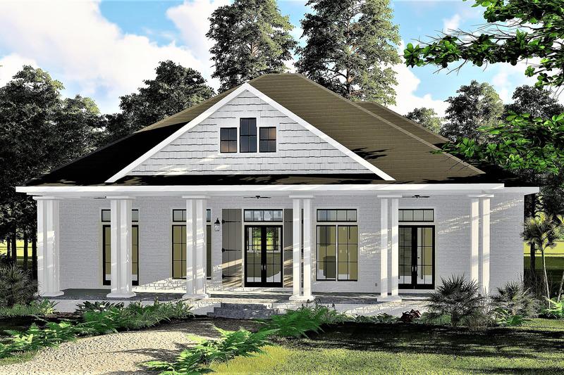Bungalow Exterior - Front Elevation Plan #44-238