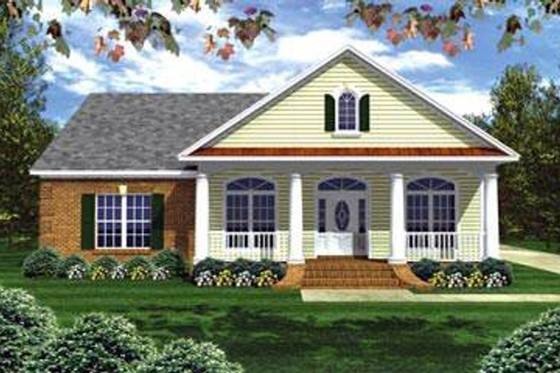Dream House Plan - Traditional Exterior - Front Elevation Plan #21-231