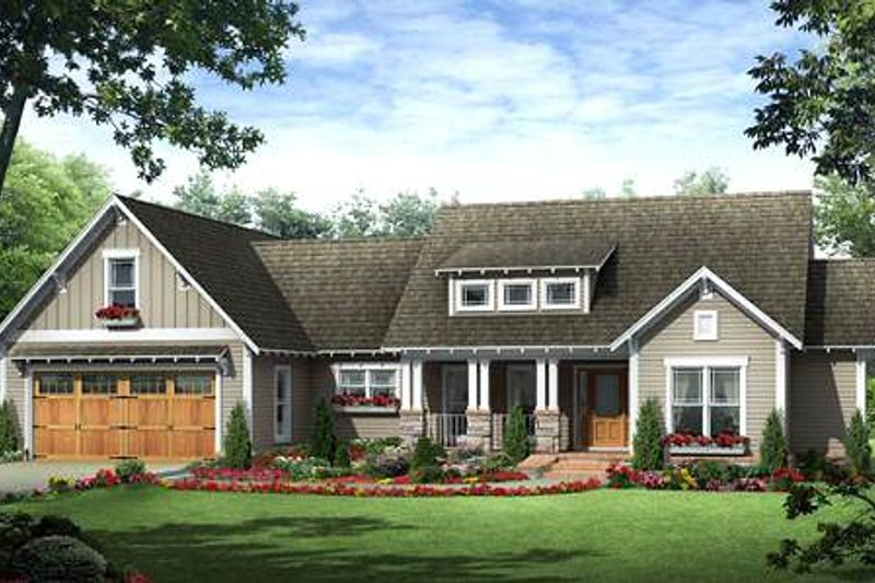 Craftsman Exterior - Front Elevation Plan #21-279