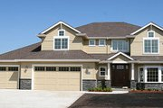 Traditional Style House Plan - 4 Beds 2.5 Baths 2887 Sq/Ft Plan #124-525 Exterior - Front Elevation