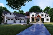 Farmhouse Style House Plan - 6 Beds 5.5 Baths 6301 Sq/Ft Plan #923-119 Exterior - Front Elevation