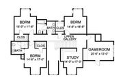 Traditional Style House Plan - 5 Beds 4.5 Baths 5150 Sq/Ft Plan #490-16 Floor Plan - Upper Floor Plan