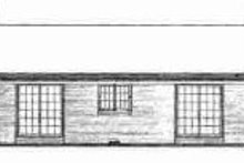 Ranch Exterior - Rear Elevation Plan #72-296