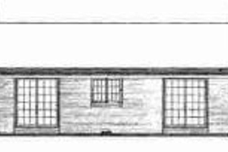 Ranch Exterior - Rear Elevation Plan #72-296 - Houseplans.com