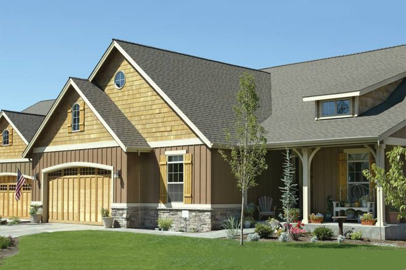 Front View - 1975 square foot Craftsman home