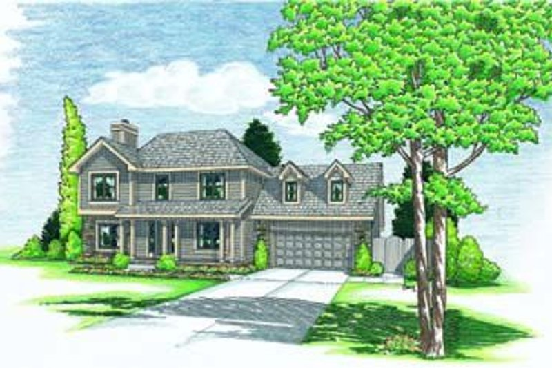 Traditional Exterior - Front Elevation Plan #20-641 - Houseplans.com