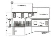 Traditional Style House Plan - 4 Beds 3 Baths 2070 Sq/Ft Plan #129-107 Exterior - Rear Elevation