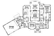 Craftsman Style House Plan - 3 Beds 3.5 Baths 4400 Sq/Ft Plan #124-1032 Floor Plan - Main Floor Plan
