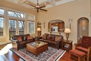 European Style House Plan - 4 Beds 3.5 Baths 2673 Sq/Ft Plan #929-21 Interior - Family Room