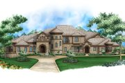 European Style House Plan - 5 Beds 5.5 Baths 17594 Sq/Ft Plan #27-564 Exterior - Front Elevation