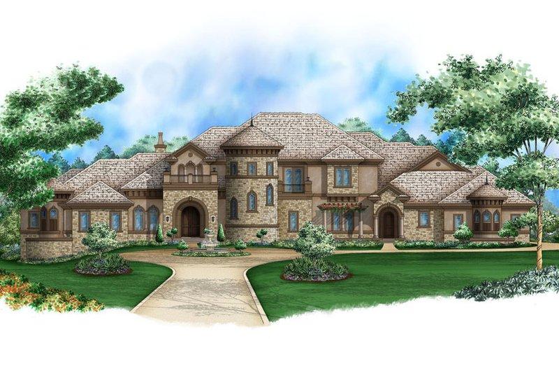 European Style House Plan - 5 Beds 5.5 Baths 17594 Sq/Ft Plan #27-564