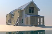Beach Style House Plan - 3 Beds 4 Baths 2220 Sq/Ft Plan #433-1 Exterior - Other Elevation