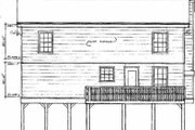 Traditional Style House Plan - 3 Beds 2.5 Baths 1577 Sq/Ft Plan #14-218 Exterior - Rear Elevation