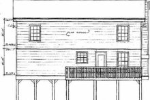 Home Plan - Traditional Exterior - Rear Elevation Plan #14-218