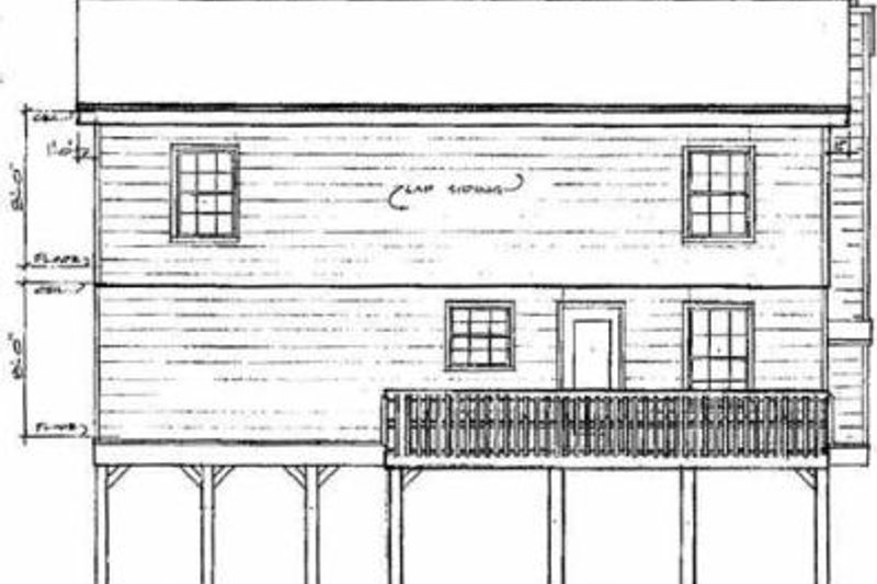 Traditional Exterior - Rear Elevation Plan #14-218 - Houseplans.com