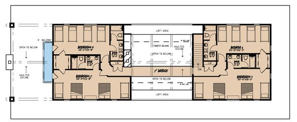 Country Floor Plan - Upper Floor Plan Plan #923-47