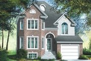 European Style House Plan - 3 Beds 1.5 Baths 1720 Sq/Ft Plan #25-4153 Exterior - Front Elevation