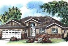 House Blueprint - European Exterior - Front Elevation Plan #18-188