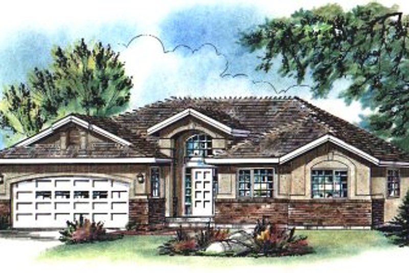 Home Plan - European Exterior - Front Elevation Plan #18-188