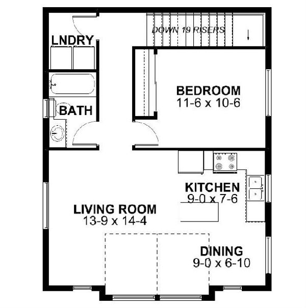 Traditional Floor Plan - Main Floor Plan Plan #126-164