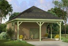 Cottage Exterior - Front Elevation Plan #124-998
