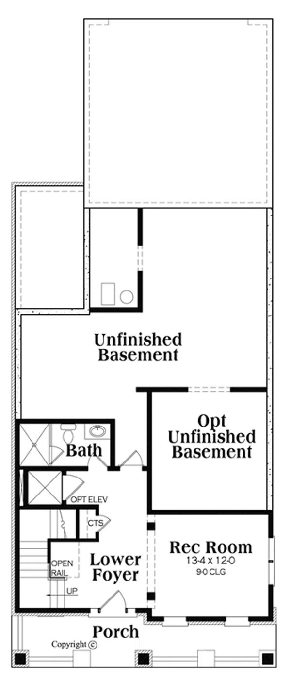Craftsman Floor Plan - Lower Floor Plan Plan #419-276