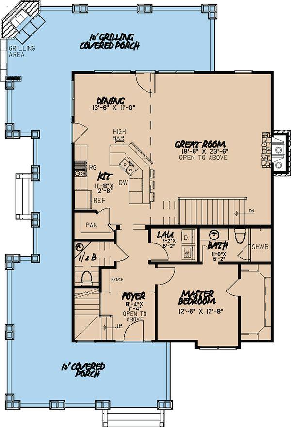 Cabin Floor Plan - Main Floor Plan Plan #923-25