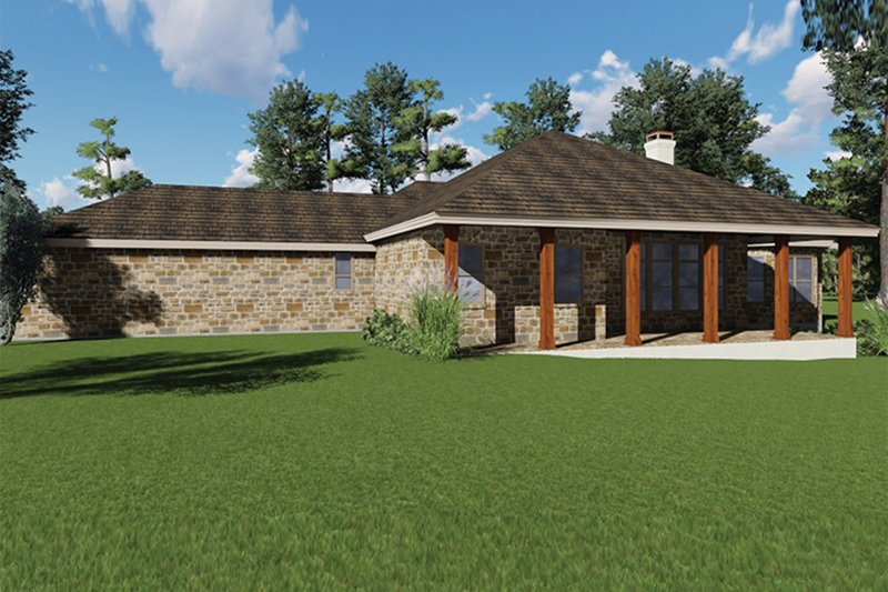 Craftsman Exterior - Rear Elevation Plan #935-10 - Houseplans.com