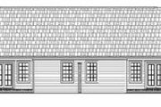 Ranch Style House Plan - 3 Beds 2 Baths 2728 Sq/Ft Plan #21-138 Exterior - Rear Elevation