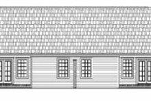 House Plan Design - Ranch Exterior - Rear Elevation Plan #21-138