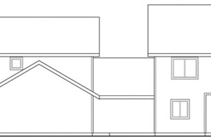 Exterior - Rear Elevation Plan #124-815 - Houseplans.com