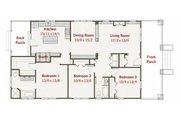 Craftsman Style House Plan - 3 Beds 2 Baths 1595 Sq/Ft Plan #461-21 Floor Plan - Main Floor Plan
