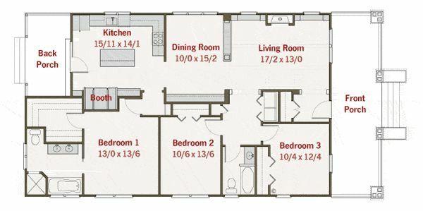 Craftsman Floor Plan - Main Floor Plan Plan #461-21