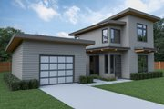 Contemporary Style House Plan - 2 Beds 2.5 Baths 1039 Sq/Ft Plan #1070-66 Exterior - Other Elevation