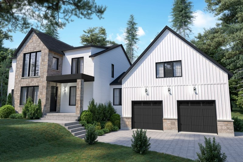 Architectural House Design - Craftsman Exterior - Front Elevation Plan #23-2743