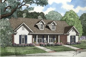Traditional Exterior - Front Elevation Plan #17-1062
