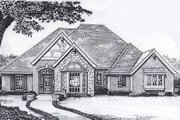 European Style House Plan - 3 Beds 2.5 Baths 1920 Sq/Ft Plan #310-909 Exterior - Front Elevation
