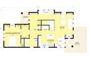 Craftsman Style House Plan - 2 Beds 2 Baths 1600 Sq/Ft Plan #454-13 Floor Plan - Main Floor Plan