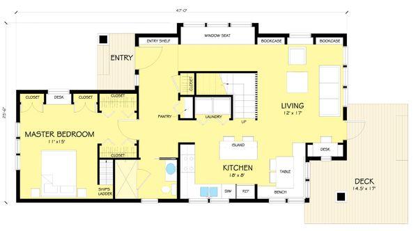 Craftsman Floor Plan - Main Floor Plan Plan #454-13