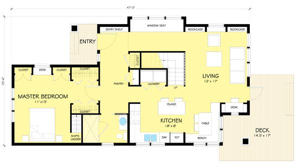 Craftsman Floor Plan - Main Floor Plan #454-13