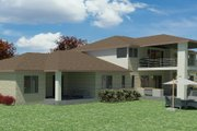 Mediterranean Style House Plan - 7 Beds 6.5 Baths 5120 Sq/Ft Plan #1066-111 Exterior - Other Elevation