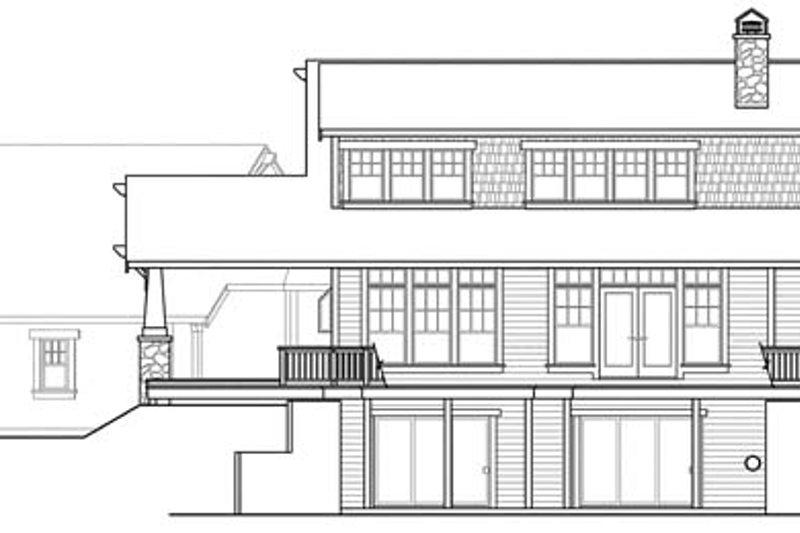 Craftsman Exterior - Rear Elevation Plan #124-880 - Houseplans.com