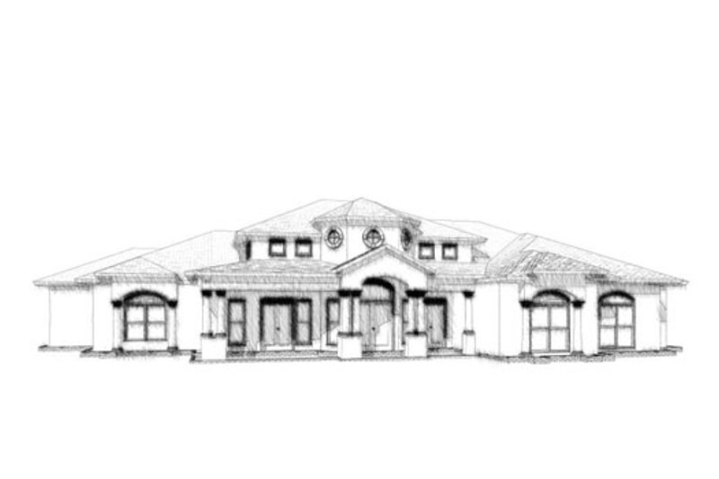 Mediterranean Style House Plan - 4 Beds 3.5 Baths 3023 Sq/Ft Plan #63-325 Exterior - Front Elevation