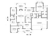 Craftsman Style House Plan - 3 Beds 2.5 Baths 2357 Sq/Ft Plan #48-556 Floor Plan - Main Floor Plan
