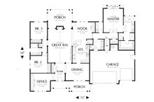 Craftsman Floor Plan - Main Floor Plan Plan #48-556