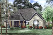 European Style House Plan - 4 Beds 2.5 Baths 2631 Sq/Ft Plan #17-2523 Exterior - Other Elevation